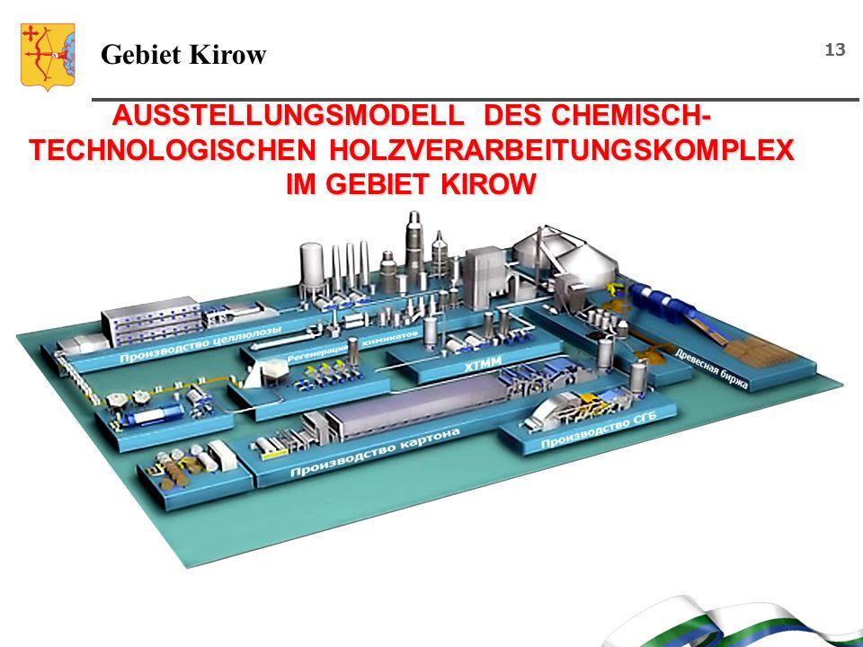 Gebiet Kirow AUSSTELLUNGSMODELL DES CHEMISCH-TECHNOLOGISCHEN HOLZVERARBEITUNGSKOMPLEX IM GEBIET KIROW.