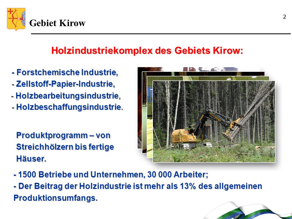 Holzindustriekomplex des Gebiets Kirow: