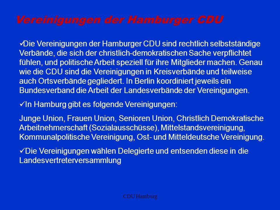 Vereinigungen der Hamburger CDU