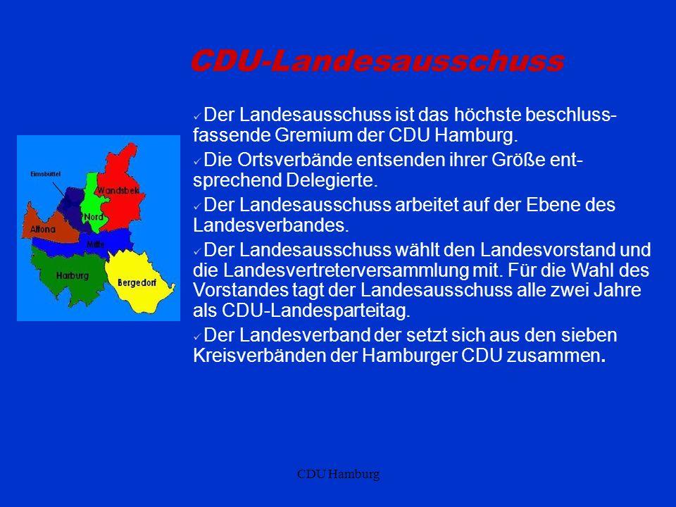 CDU-Landesausschuss Der Landesausschuss ist das höchste beschluss-fassende Gremium der CDU Hamburg.