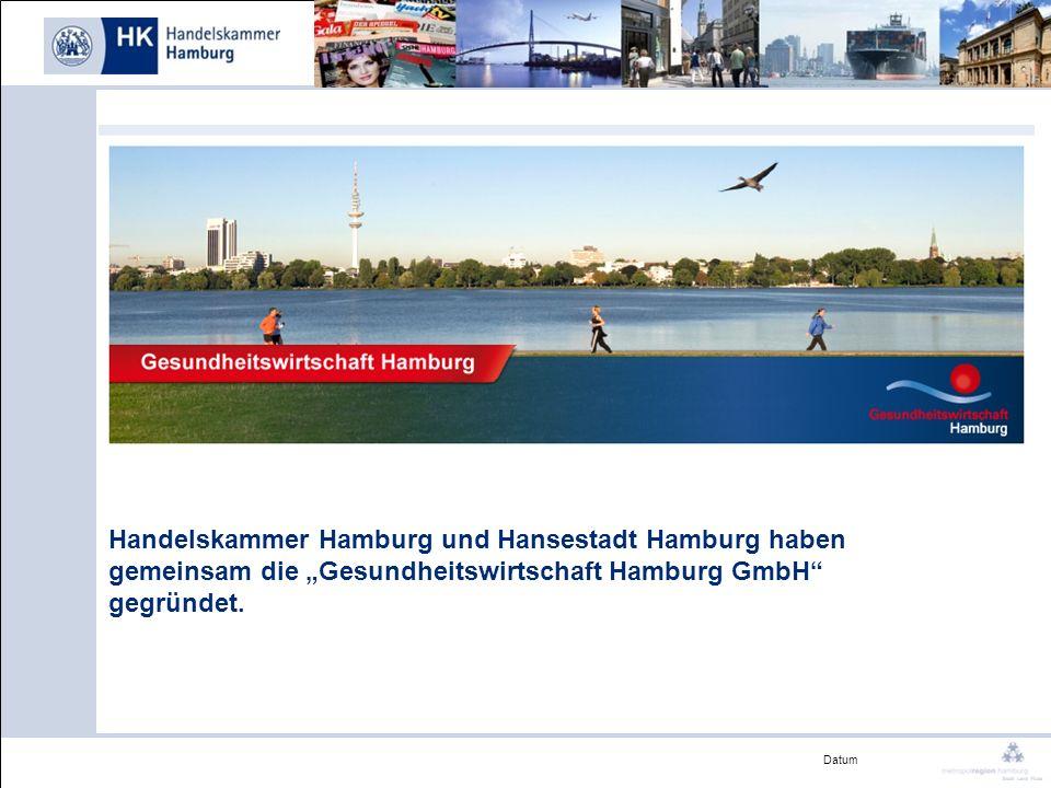 """Handelskammer Hamburg und Hansestadt Hamburg haben gemeinsam die """"Gesundheitswirtschaft Hamburg GmbH gegründet."""