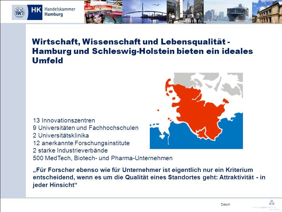 Wirtschaft, Wissenschaft und Lebensqualität - Hamburg und Schleswig-Holstein bieten ein ideales Umfeld