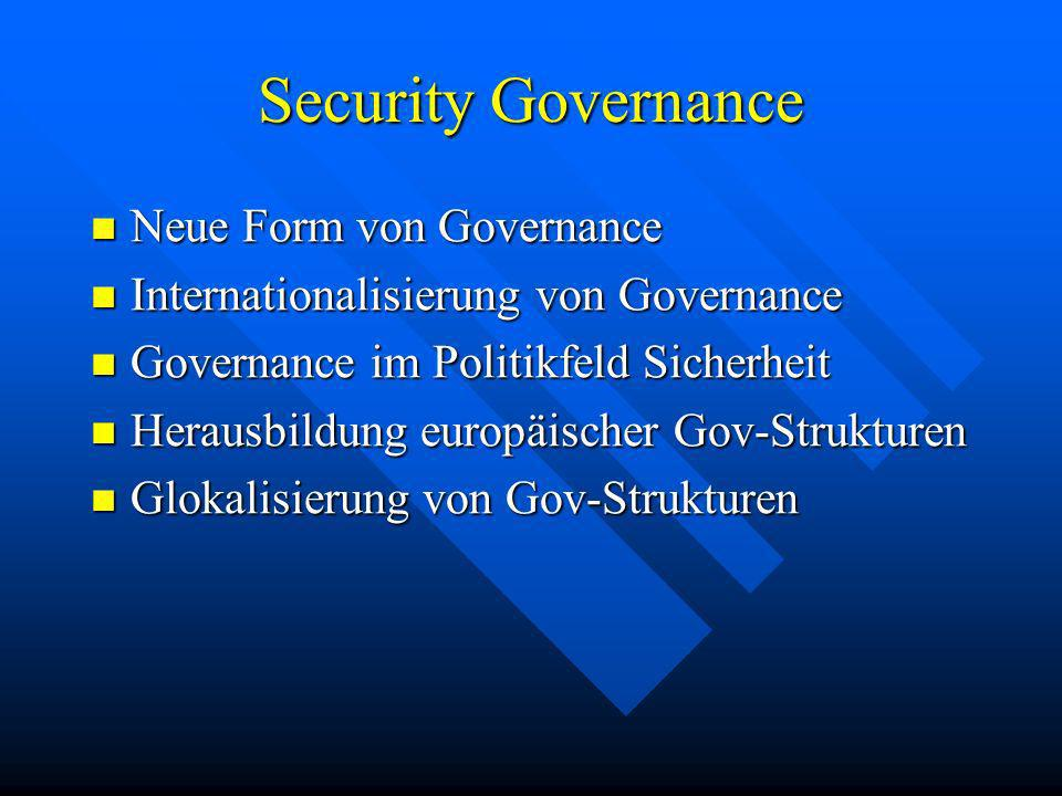 Security Governance Neue Form von Governance