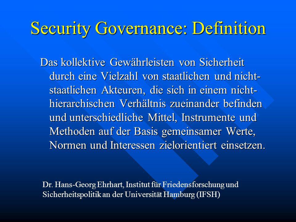 Security Governance: Definition