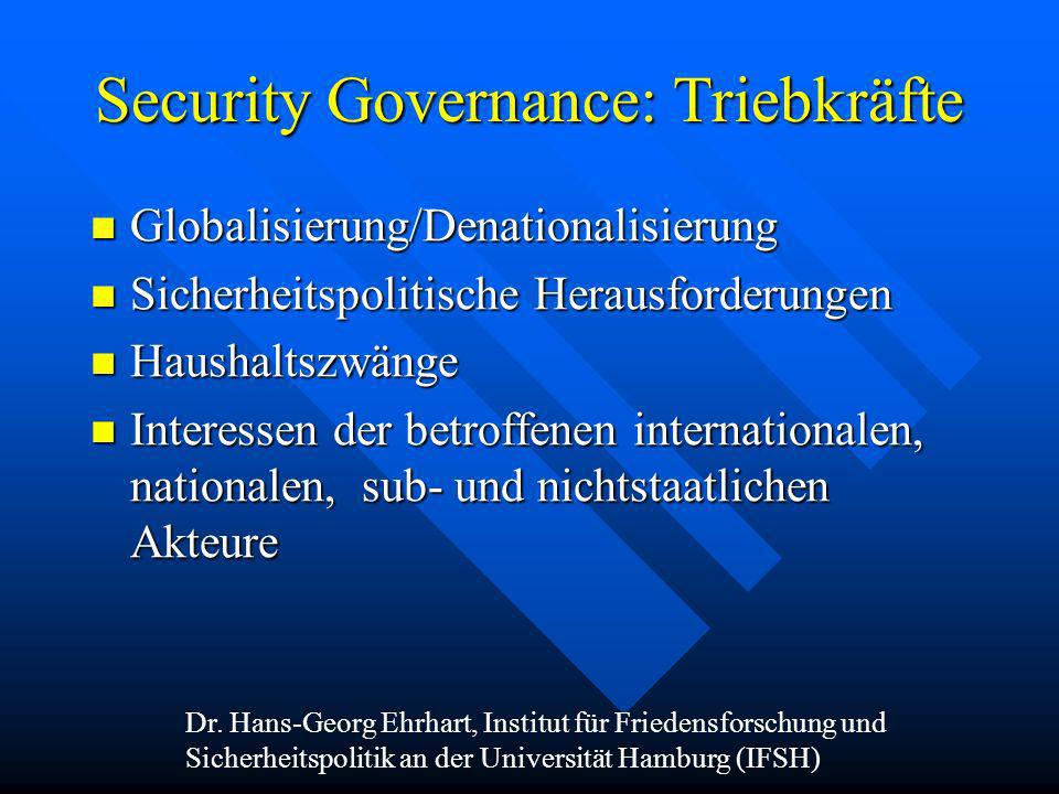 Security Governance: Triebkräfte