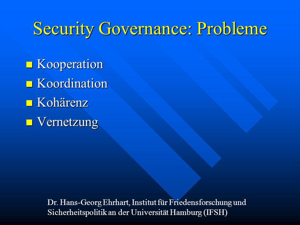 Security Governance: Probleme