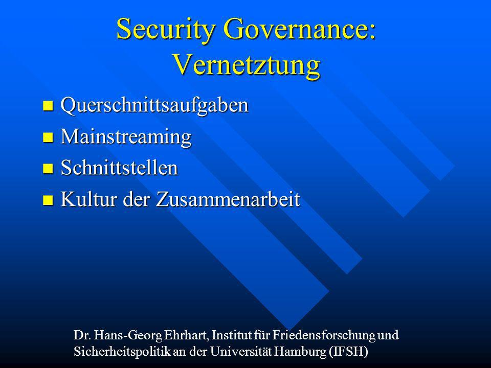 Security Governance: Vernetztung