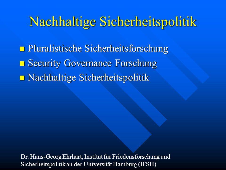 Nachhaltige Sicherheitspolitik