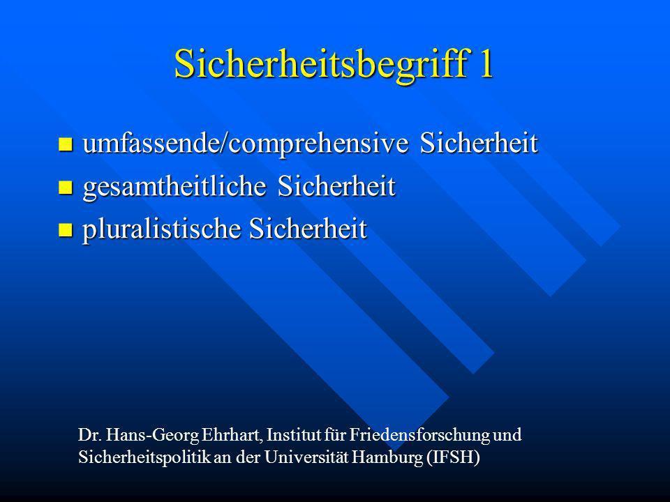 Sicherheitsbegriff 1 umfassende/comprehensive Sicherheit