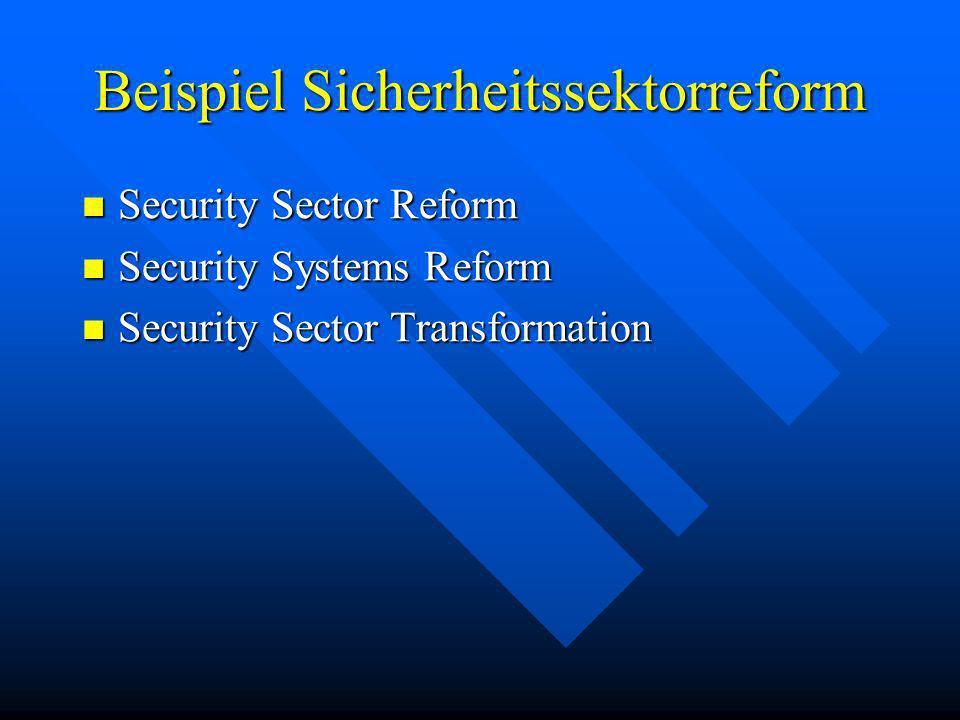 Beispiel Sicherheitssektorreform