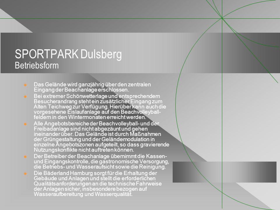 SPORTPARK Dulsberg Betriebsform