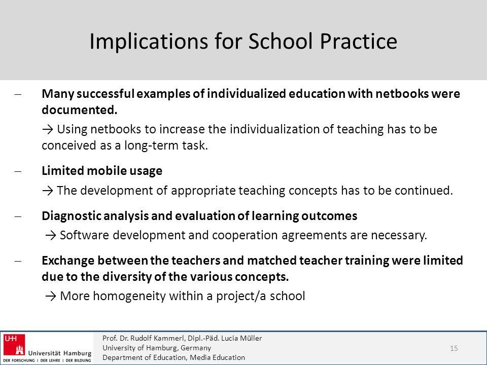 Implications for School Practice