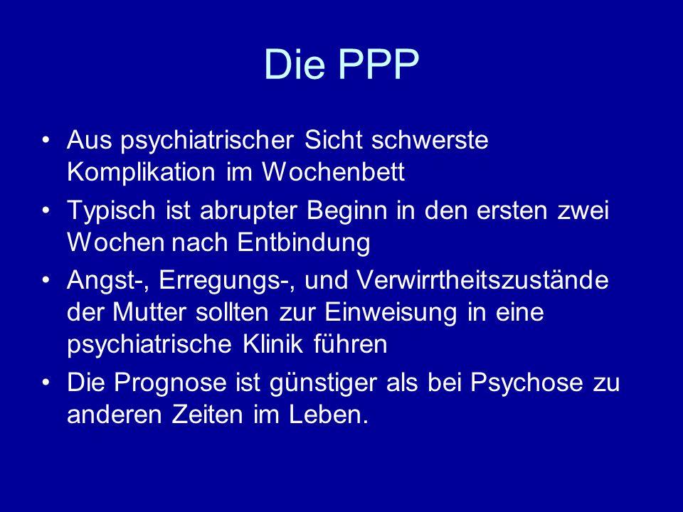 Die PPP Aus psychiatrischer Sicht schwerste Komplikation im Wochenbett