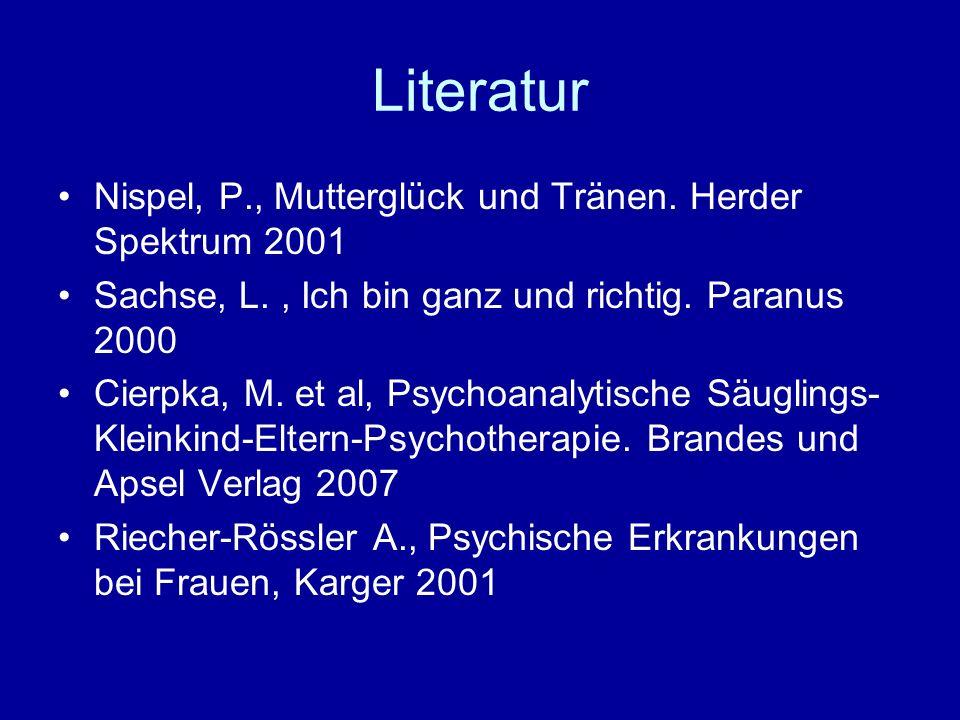 Literatur Nispel, P., Mutterglück und Tränen. Herder Spektrum 2001
