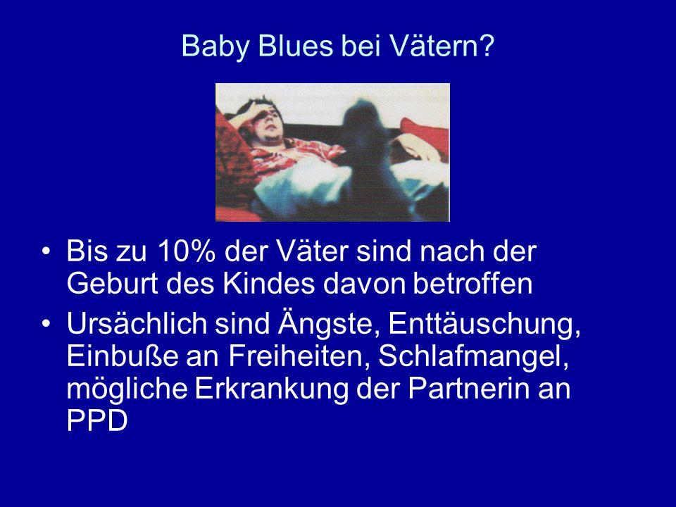 Baby Blues bei Vätern Bis zu 10% der Väter sind nach der Geburt des Kindes davon betroffen.