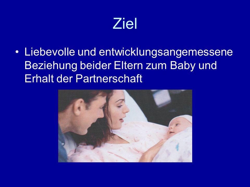 Ziel Liebevolle und entwicklungsangemessene Beziehung beider Eltern zum Baby und Erhalt der Partnerschaft.
