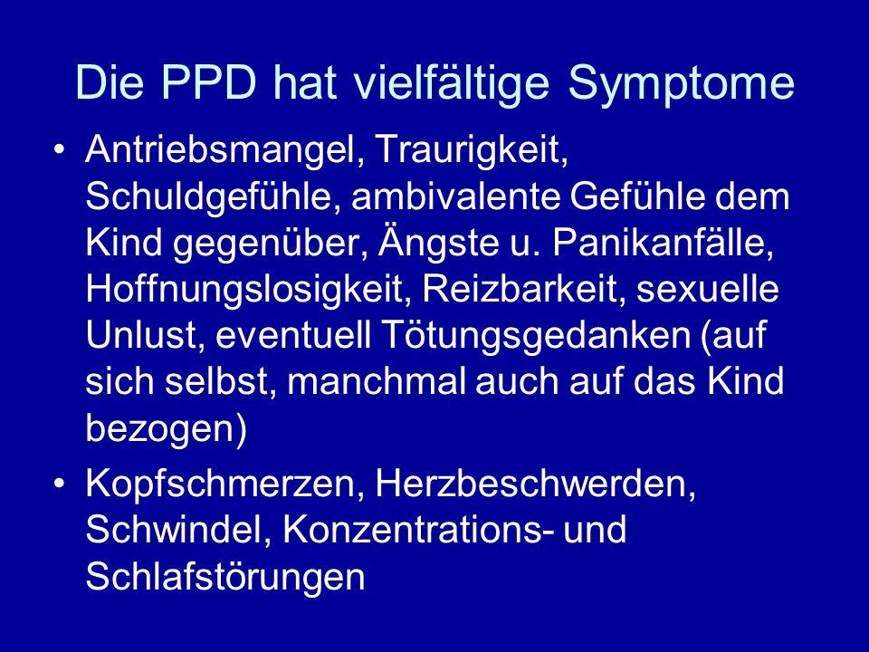 Die PPD hat vielfältige Symptome
