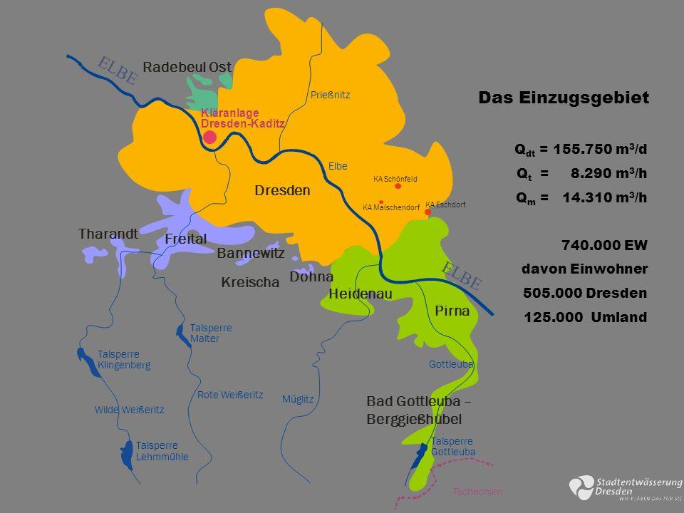 E L B E Das Einzugsgebiet E L B E Radebeul Ost Dresden Tharandt