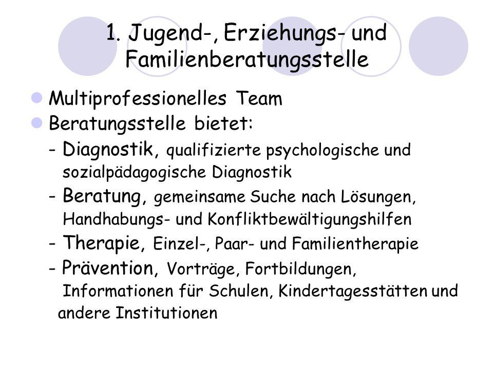 1. Jugend-, Erziehungs- und Familienberatungsstelle