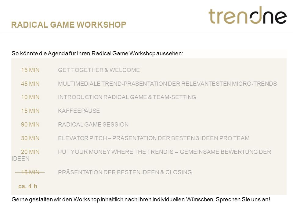 RADICAL GAME WORKSHOP ca. 4 h