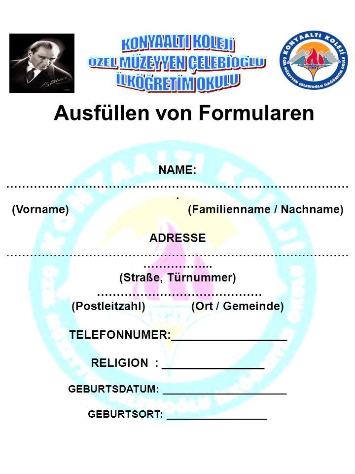 Ausfüllen von Formularen