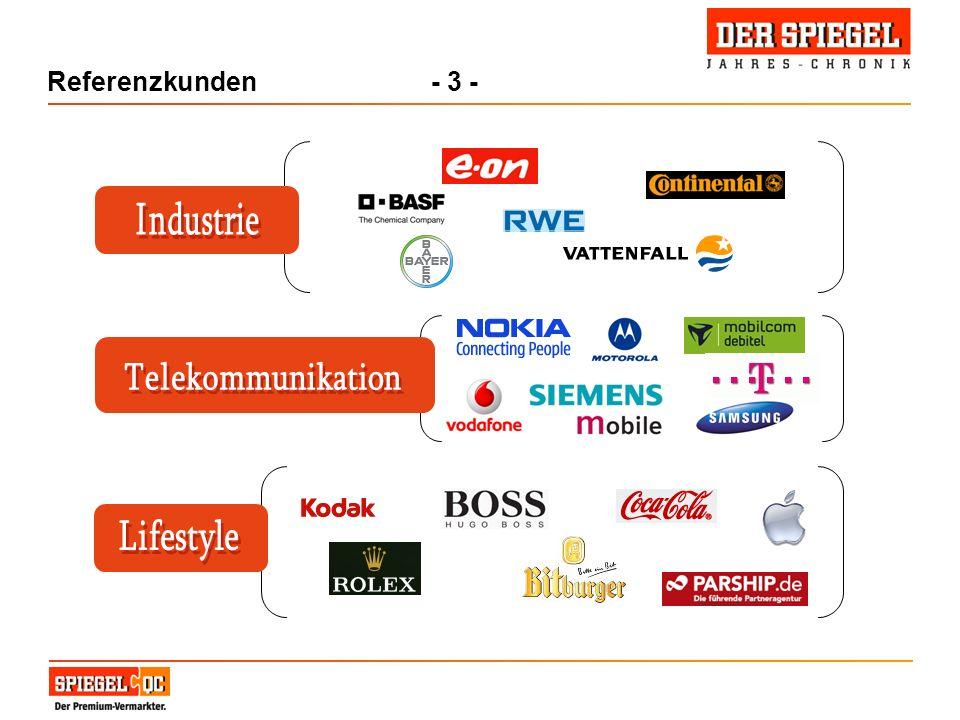 Referenzkunden - 3 - Industrie Telekommunikation Lifestyle