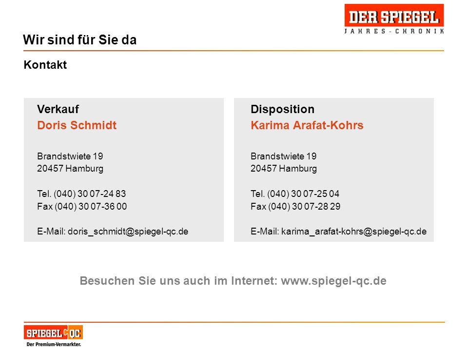 Besuchen Sie uns auch im Internet: www.spiegel-qc.de