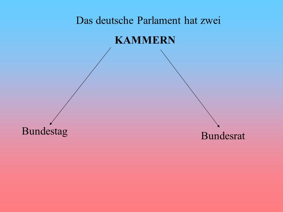 Das deutsche Parlament hat zwei