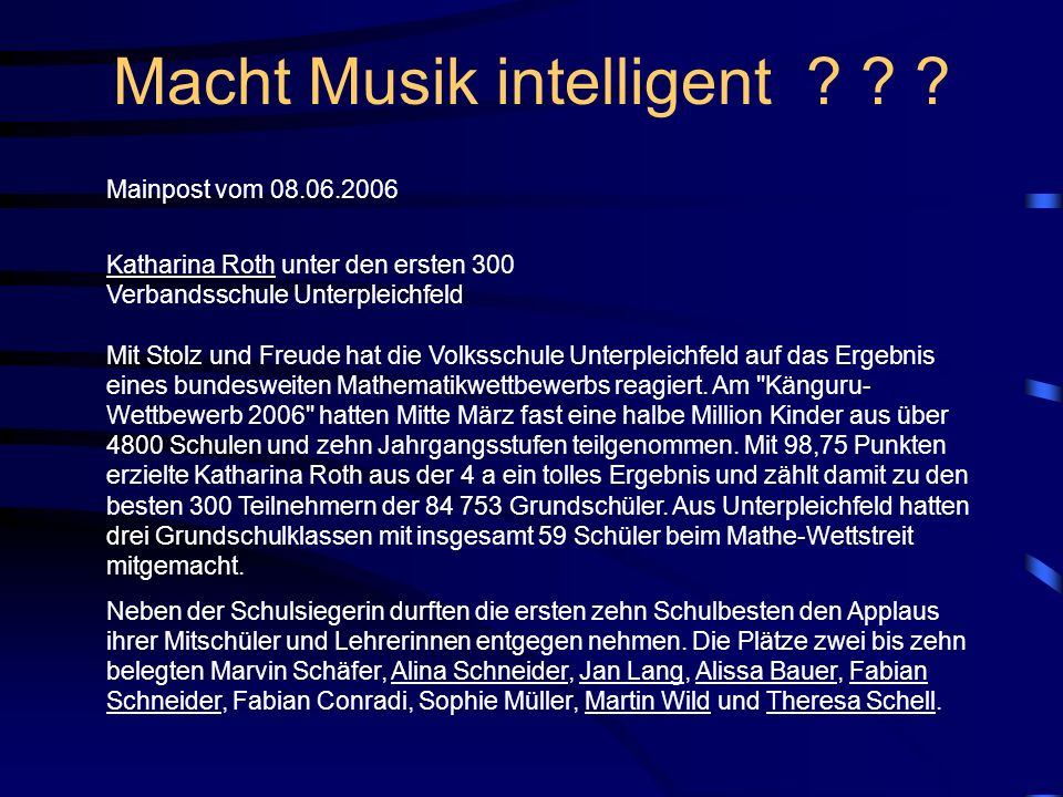 Macht Musik intelligent