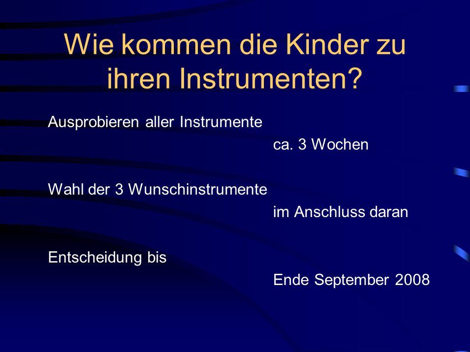 Wie kommen die Kinder zu ihren Instrumenten