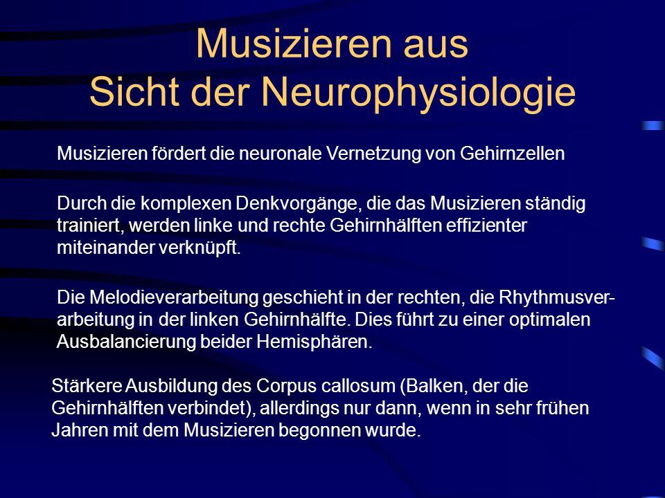 Musizieren aus Sicht der Neurophysiologie