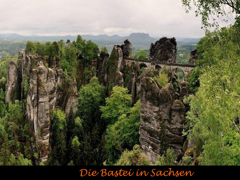 Die Bastei in Sachsen