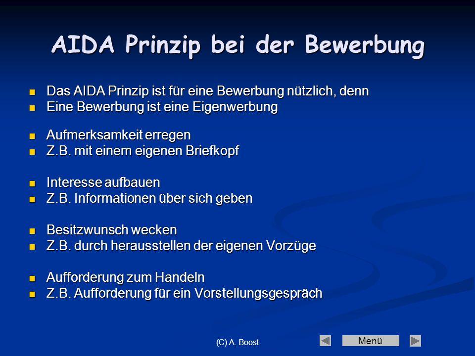AIDA Prinzip bei der Bewerbung