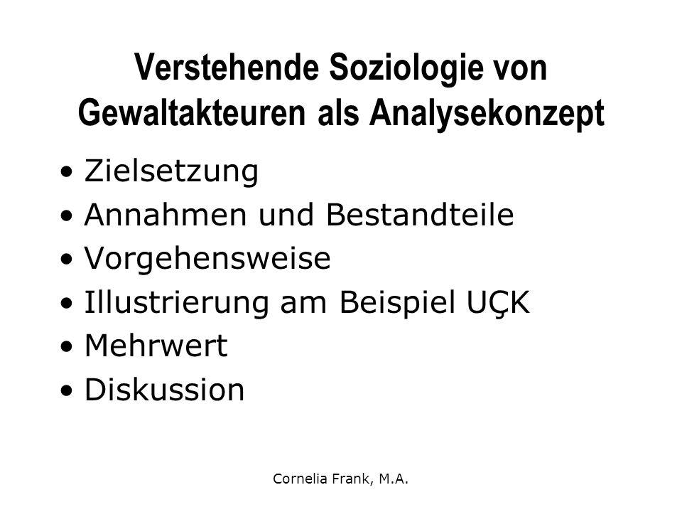 Verstehende Soziologie von Gewaltakteuren als Analysekonzept