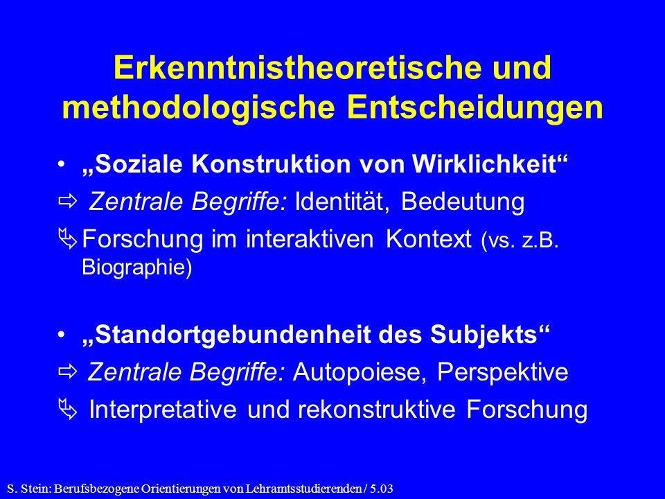 Erkenntnistheoretische und methodologische Entscheidungen