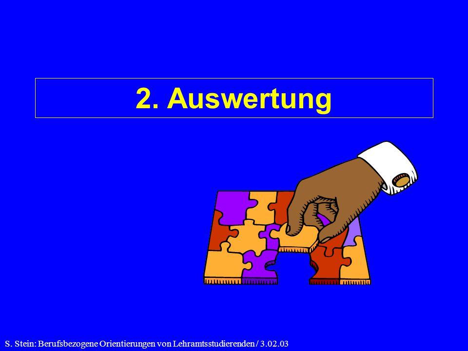 2. Auswertung S. Stein: Berufsbezogene Orientierungen von Lehramtsstudierenden / 3.02.03