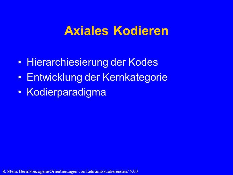 Axiales Kodieren Hierarchiesierung der Kodes