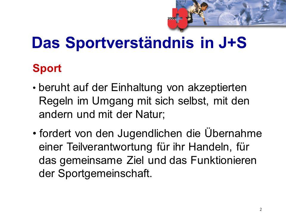 Das Sportverständnis in J+S