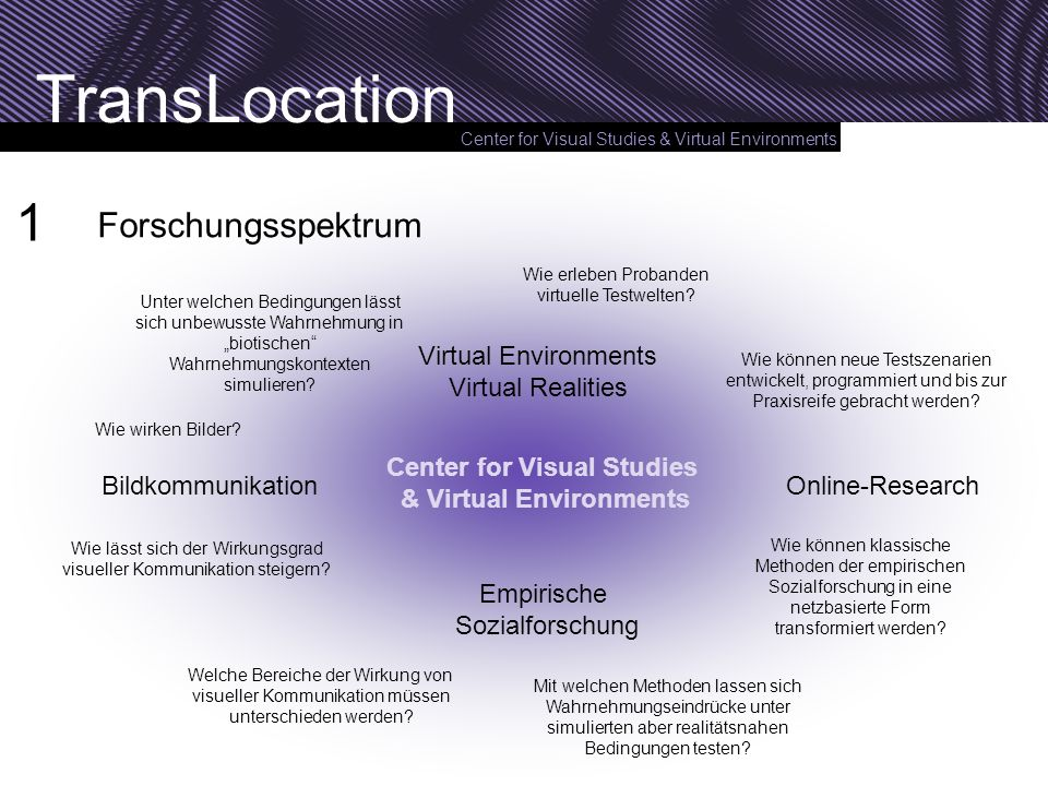 Center for Visual Studies & Virtual Environments