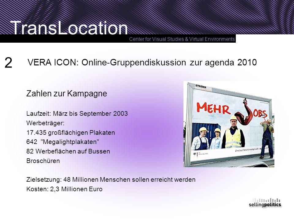 2 VERA ICON: Online-Gruppendiskussion zur agenda 2010