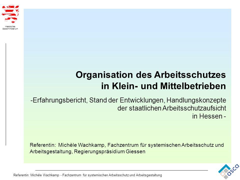 Organisation des Arbeitsschutzes in Klein- und Mittelbetrieben