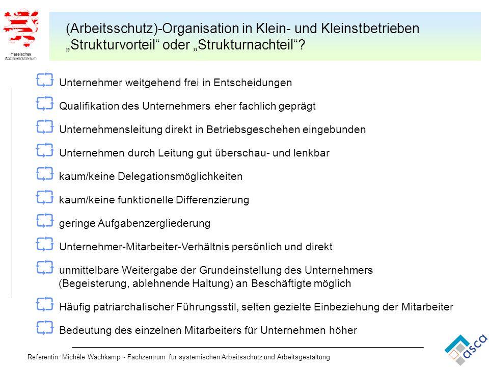 (Arbeitsschutz)-Organisation in Klein- und Kleinstbetrieben