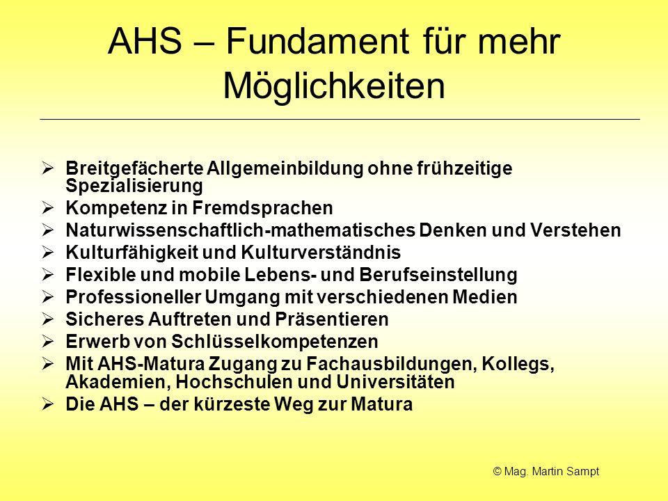 AHS – Fundament für mehr Möglichkeiten