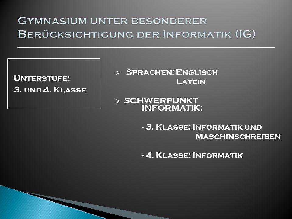 Gymnasium unter besonderer Berücksichtigung der Informatik (IG)