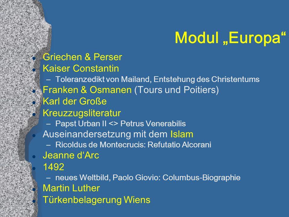 """Modul """"Europa Griechen & Perser Kaiser Constantin"""