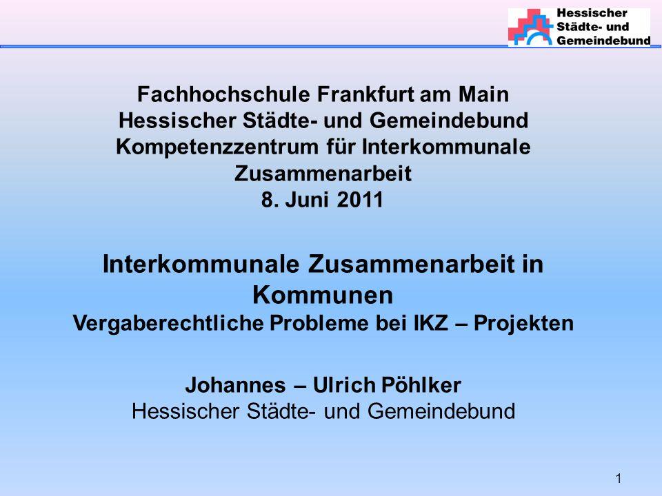 Interkommunale Zusammenarbeit in Kommunen