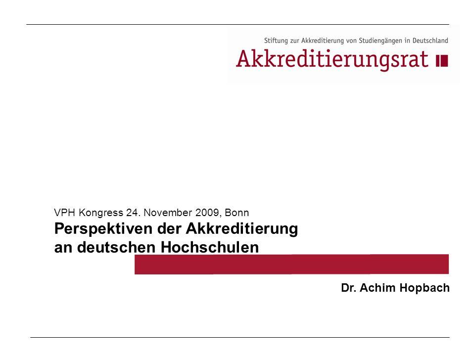 Perspektiven der Akkreditierung an deutschen Hochschulen