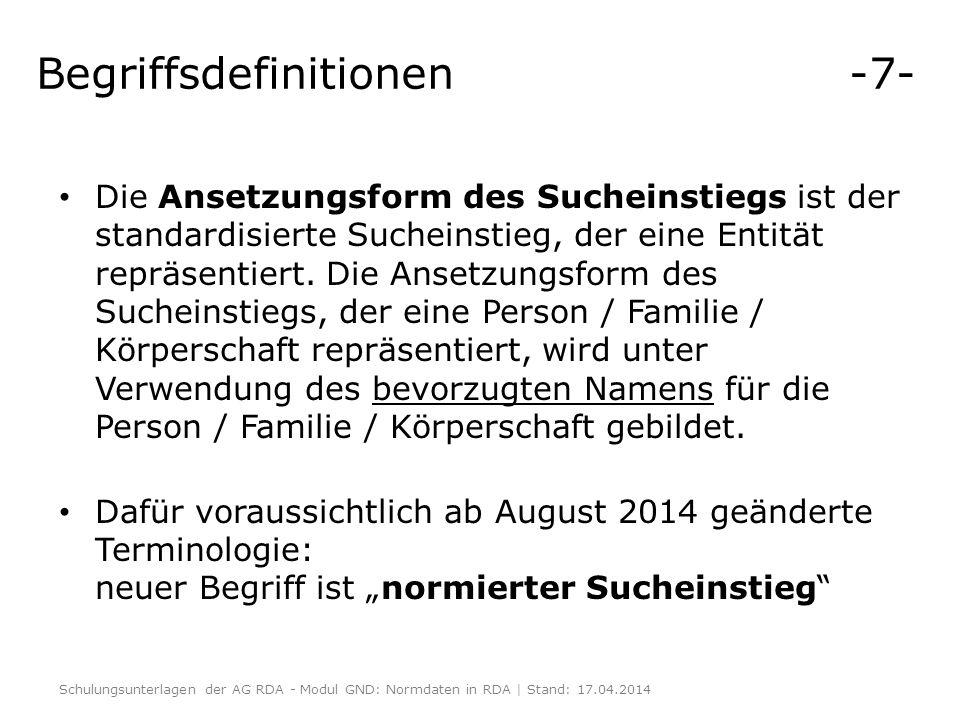 Begriffsdefinitionen -7-