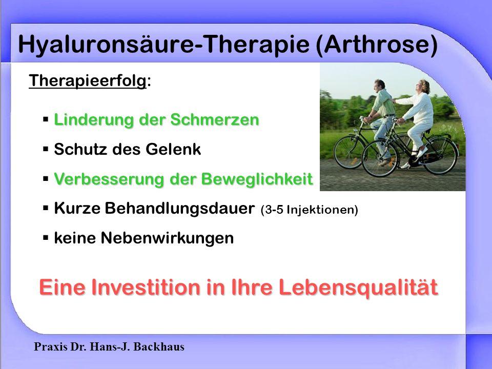 Hyaluronsäure-Therapie (Arthrose)