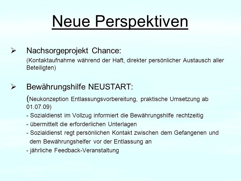 Neue Perspektiven Nachsorgeprojekt Chance: Bewährungshilfe NEUSTART:
